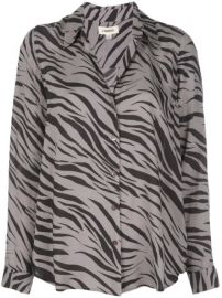 L Agence Zebra Printed Shirt - Farfetch at Farfetch