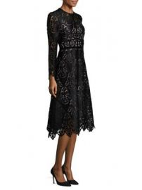 L K  Bennett - Elouise Lace A-Line Dress at Saks Fifth Avenue