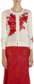 L Wren Scott Classic Embroidered Cardigan at Barneys