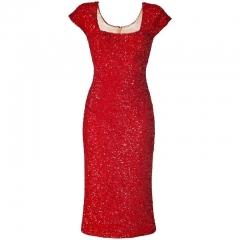 L Wren Scott Red Sequin Dress at Net A Porter