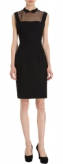 L Wren Sheer Yoke Dress at Barneys