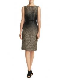 LAFAYETTE 148 NEW YORK - PAULETTE BELTED SHEATH DRESS at Saks Off 5th