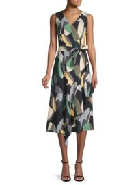 LAFAYETTE 148 NEW YORK - PRINTED BELTED DRESS at Saks Fifth Avenue