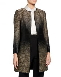 LAFAYETTE 148 NEW YORK ERIN EQUINOX LONG-SLEEVE JACQUARD COAT at Last Call