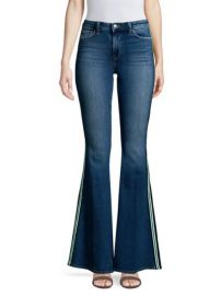 LAGENCE - SOLANA HIGH-RISE SIDE STRIPE FLARED JEANS at Saks Fifth Avenue