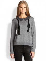 LAGENCE - Bowtie Intarsia Wool Sweater at Saks Fifth Avenue