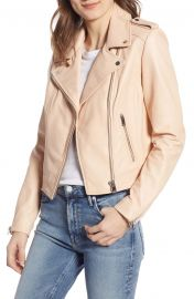 LAMARQUE Donna Lambskin Leather Moto Jacket   Nordstrom at Nordstrom
