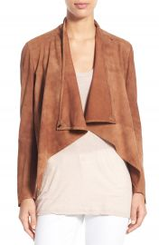 LAMARQUE  Madison  Drape Front Suede Jacket at Nordstrom