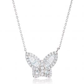 LARGE DIAMOND BUTTERFLY PENDANT at Nicole Rose