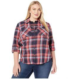 LAUREN Ralph Lauren Plaid Cotton Twill Roll-Tab Shirt at Zappos