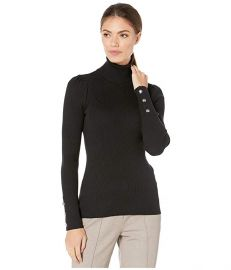 LAUREN Ralph Lauren Puff-Sleeve Turtleneck Sweater at Zappos