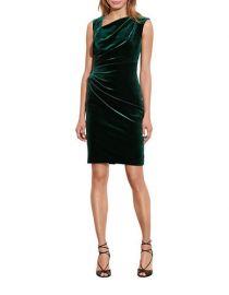 LAUREN Ralph Lauren Stretch Velvet Sheath Dress at Lord & Taylor