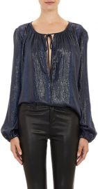 LAgence Python Embossed Peasant Blouse at Barneys