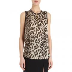 LAgence Sleeveless Leopard Print Blouse at Barneys
