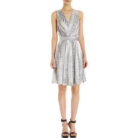 LAgence Spot Print Sleeveless Dress at Barneys