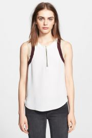 LAgence Zip Front Silk Blouse at Nordstrom Rack