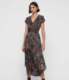 LEILA SCARF DRESS at All Saints