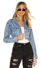 LEVI S Cut Off Crop Trucker in Off the Grid from Revolve com at Revolve