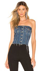 LEVI S Lace Up Denim Corset in Laced Up from Revolve com at Revolve
