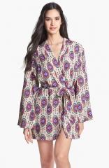 LFV by La Fee Verte Kimono Robe in oval print at Nordstrom