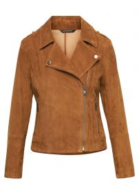LIFE IN MOTION STRETCH SUEDE MOTO JACKET at Banana Republic