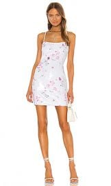 LIKELY Floral Sequin Reese Dress in White Multi from Revolve com at Revolve