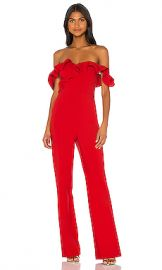 LIKELY Miller Jumpsuit in Scarlet from Revolve com at Revolve
