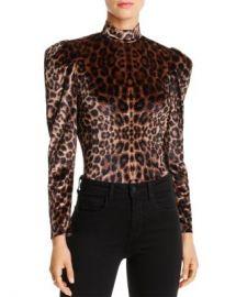 LINI Gillian Puff-Sleeve Leopard Print Velvet Top - 100  Exclusive  Women - Bloomingdale s at Bloomingdales