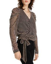 LINI Grace Puff-Sleeve Plaid Wrap Top - 100  Exclusive  Women - Bloomingdale s at Bloomingdales