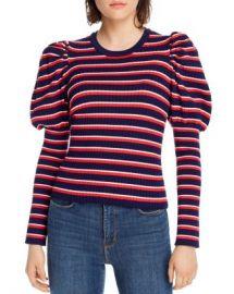 LINI Marla Striped Juliet-Sleeve Sweater - 100  Exclusive Women - Bloomingdale s at Bloomingdales