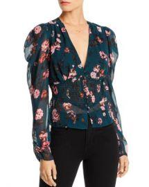 LINI Nora Puff-Sleeve Floral Smocked Top - 100  Exclusive  Women - Bloomingdale s at Bloomingdales