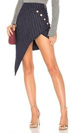 LIONESS Heiress Pinstripe Skirt in Navy from Revolve com at Revolve