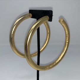 LIQUID GOLD THIN HOOPS at EBJ Gallery
