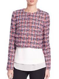 LK Bennett Echo British Tweed Cropped Jacket at Saks Fifth Avenue
