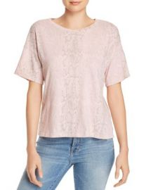 LNA Boxy Snakeskin Print Tee - 100  Exclusive Women - Bloomingdale s at Bloomingdales