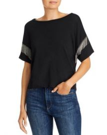 LNA Shimmy Chain-Fringed Tee Women - Bloomingdale s at Bloomingdales