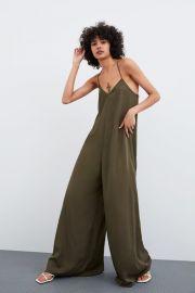 LONG FLOWY JUMPSUIT at Zara