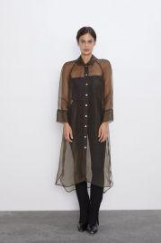 LONG ORGANZA SHIRT at Zara