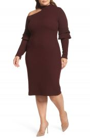 LOST INK Shoulder Cutout Knit Dress  Plus Size at Nordstrom