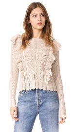 LOVESHACKFANCY Ruffle Pullover at Shopbop