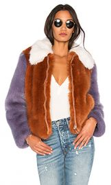 LPA Faux Fur Jacket 413 in Rust  amp  Lilac from Revolve com at Revolve