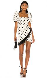 LPA Hailey Dress in Ivory and Black from Revolve com at Revolve
