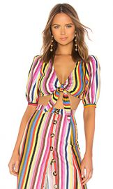 LPA Tie Front Top in Rainbow Stripe from Revolve com at Revolve