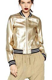 LRT Short PU Bomber Jacket Zip Up Leather Jacket Coat at Amazon