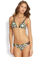 LSpace - Katmandu Geometric-Print Triangle Bikini Top at Saks Fifth Avenue