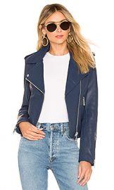 LTH JKT Kas Modern Biker Jacket in Mercury Blue from Revolve com at Revolve