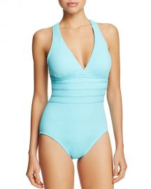 La Blanca Multistrap Cross Back Maillot One Piece Swimsuit ice blue at Bloomingdales