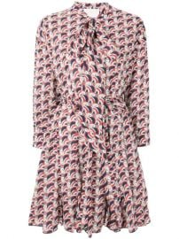 La Doublej Short Printed Shirt Dress - Farfetch at Farfetch