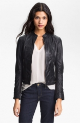 La Marque Perforated Leather Moto Jacket at Nordstrom
