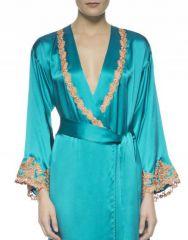 La Perla Maison Robe in turquoise at Barneys